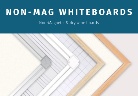 Non-Magnetic whiteboards and drywipe boards
