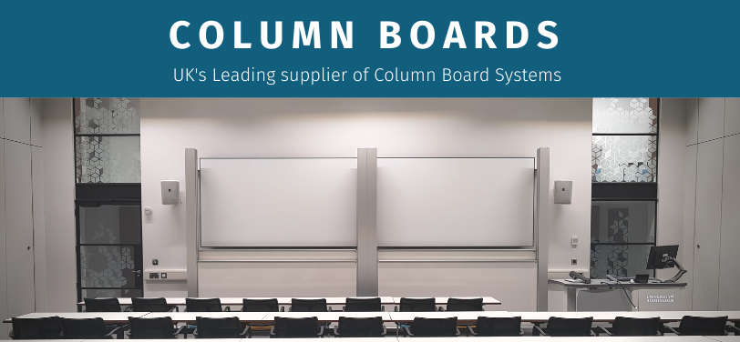 two or three board column systems with various writing surfaces