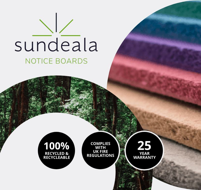 sundeala fire resistant notice boards and wall linings